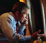 Bush speaks to Cheney aboard Air Force One