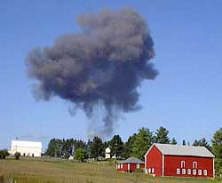 Flight 93 crashes in Pennsylvania