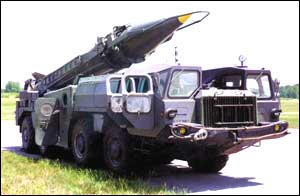 Iraqi Scud missile on a mobile launcher